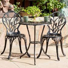 metal bistro table and 2 chairs patio design ideas