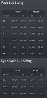 Powder Skis Size Chart Spyder Sizing Chart Speed Suits Jay Me Ski Depot