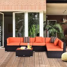 outsunny 7 piece rattan sofa set summer