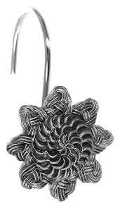 Крючок для шторы <b>Avanti Braided Medallion</b> Silver - купить в ...