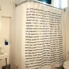 the thing is a literary quarterly that publishes stories printed overd household objects like cutting boards the latest edition is a shower curtain
