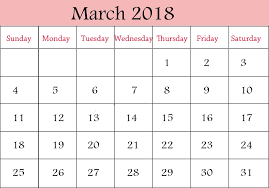 blank 2018 calendar march 2018 printable calendar 2018 yearly calendar