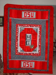 Ohio State Buckeyes Block O Lap Size Handmade by MadebyLizzie ... & Find this Pin and more on O H I O / OSU / Quilts inspired. Adamdwight.com