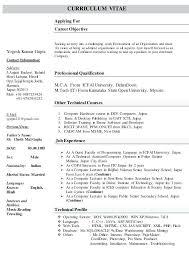 sample resume for assistant professor in computer science sample resume  bachelor of computer science resume sample