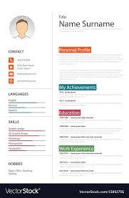 Professional White Resume Cv Template