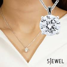 round brilliant cut basic style lady jewelry pendant necklace silver 925 18k white gold plating best grade cubic zirconia diamond pretty popular gift