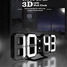 Multi-Function Large <b>3D LED Digital Wall Clock</b> Alarm Clock With ...