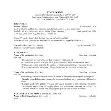 Resume For College Application Template College Application Resume