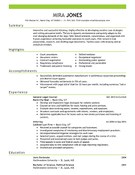 law resume example