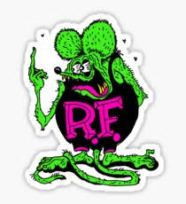 rat fink stickers redbubble