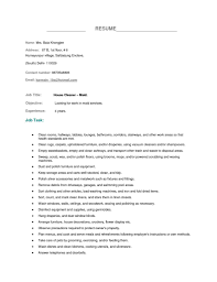 Examples Of Housekeeping Resumes Resume Template