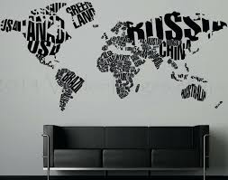 wall decals and stickers colorful world map travel letters wall decal home  sticker kid friendly large
