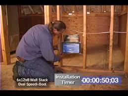 wall sdiboot vent boot installation