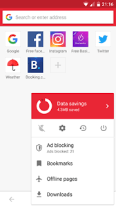 I have updated this article, the best way right now is to install google play on blackberry. Opera Mini Wikipedia