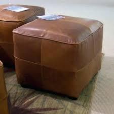 leather cube ottoman. Unique Ottoman Leather Ottoman Cube Brown Gray For E
