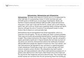 on deforestation essay on deforestation