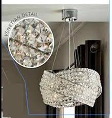 next venetian 5 light clear ceiling lighting chandelier new
