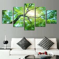 wall decor canvas prints art green trees definition pictures canvas prints home decoration living purple wall