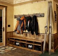 Boot Bench With Coat Rack Enchanting MEL Fav So Far This Simple Rustic Bench Allows For Seating And
