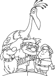 Small Picture Disney Pixar Up Coloring Pages Wecoloringpage