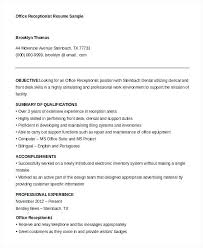 best ideas of gym receptionist resume sample cool dental front office resume sample office receptionist