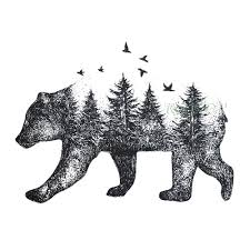 Us 049 Waterproof Temporary Tattoo Siberia Forest Bear Tree Bird Fox Owl Wolf Whale Tatto Flash Tatoo Fake For Girl Women Men 7 In Temporary