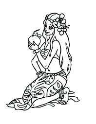 Hawaiian Girl Coloring Pages At Getdrawingscom Free For Personal