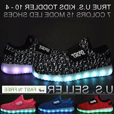 Light Up Roshes Kids Light Up Shoes Boys Girls Led Sneakers Luminous Usb Charger Lace Athletic