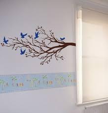 wall art ideas design huge rect tree branches interior blue light handmade premium material high quality