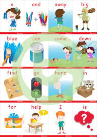 Pre Primer Dolch Dolch Sight Word Flash Cards With Pictures Pre Primer