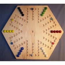 Beautiful Wooden Marble Aggravation Game Board THE PUZZLEMAN TOYS W100 Wooden Marble Game Board Aggravation 13