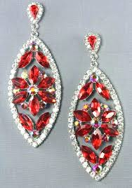 exceptional red chandelier earrings crystal chandelier drop earrings red red