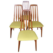 set of four tall back danish modern dining room chairs