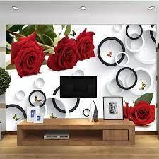 beibehang Custom large rose mural 3d ...