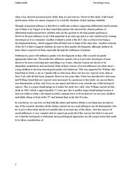 essay on social influences on gender role document in a level preview of page 2 sadhia k psychology essay