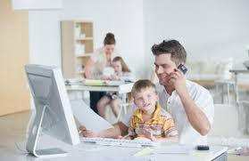 working for home office. Many Parents Find Working From Home Allows Them More Time With Their Kids. For Office