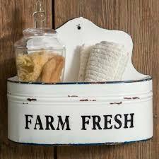 farm fresh wall caddy farm fresh farmhouse decor enamel soap tray