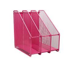 exerz ex3212 mesh metal triple desktop holder rack 3 compartments doents notebooks folder organiser pink co uk kitchen home
