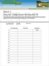 Sample Bid Sheets For Silent Auction Blank Bid Sheet Omfar Mcpgroup Co