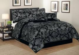 Luxurious 7pcs Quilted Bed Spread Set/ Comforter Set, Mansfield ... & Luxurious 7pcs Quilted Bed Spread Set/ Comforter Set, Mansfield- Black  Silver Adamdwight.com