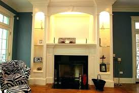 fireplace with bookcase built