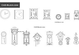 wall clocks free cad file