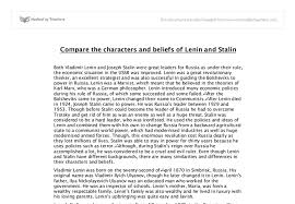 Compare The Characters And Beliefs Of Lenin And Stalin Both