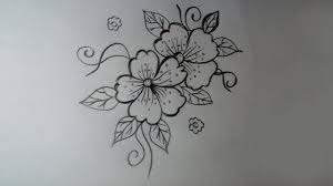 Flower Design Drawing How To Draw A Simple Flower Design Pencil Shadding Drawing Flowers Designs For Beginners