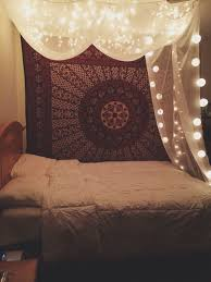 dorm lighting ideas. boho bedroom inspiration tapestry canopy fairy lights bohemian touches but with a sense of spaciousness this means iu0027m minimalist dorm lighting ideas