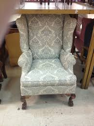 Wingback Chair Vintage Wing Back Chair Thrift Score Thrift Diving Blog