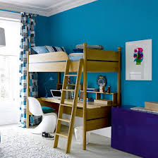 ... Contemporary boys' bedroom features an elegant color scheme