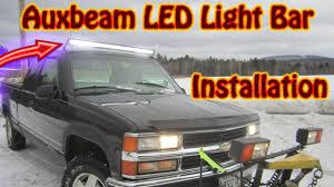 88 98 Chevy 52 Light Bar Brackets Diy Auxbeam 52 Inch V Series Led Light Bar Installation Chevy K1500 Silverado Bluetooth Controlled
