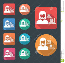 administrative assistant stock illustration image  administrative assistant icon royalty stock photos