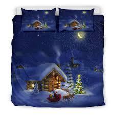 Christmas Lights Sheet Set Christmas Night Bedding Set